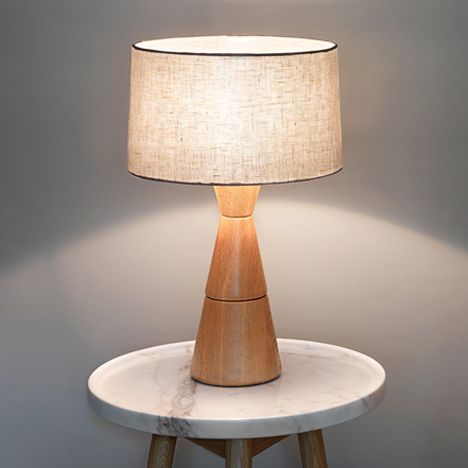 Linen And Oak Lamp Noah Lighting By Bethan Gray For John Lewis Oak Lamp Lamp Lighting