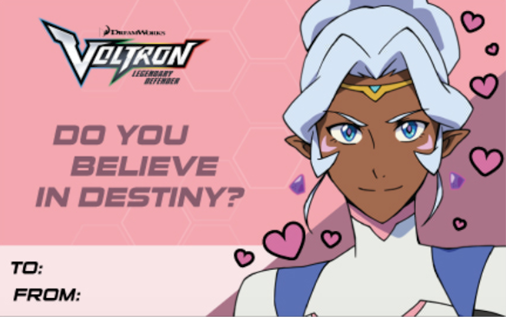Princess Allura S Valentine S Day Card From Voltron Legendary