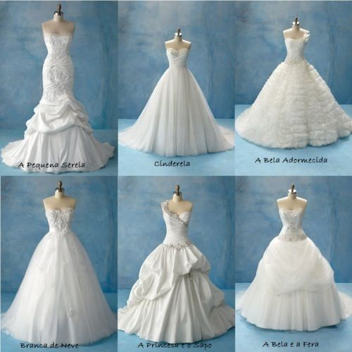 Disney Princess Inspired Wedding Dresses I Like The Top Of Sleeping Beauty All