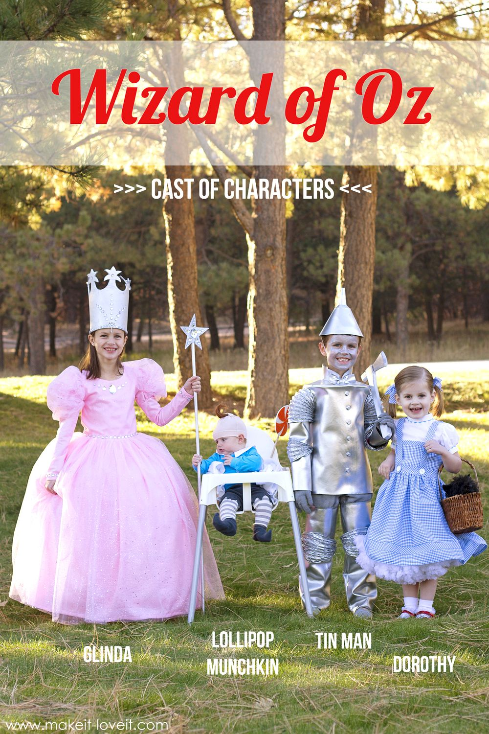 diy quotwizard of ozquot costumes glinda tin man dorothy and