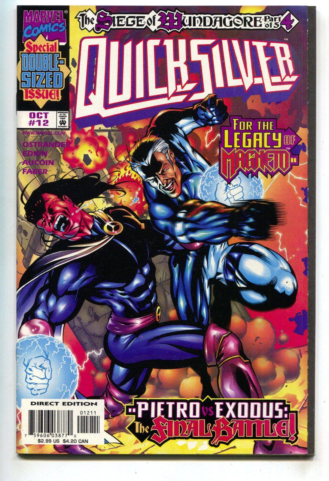 Quicksilver 12 Marvel 1998 Nm X Men Magneto Comics Marvel Comics Covers Marvel Comics