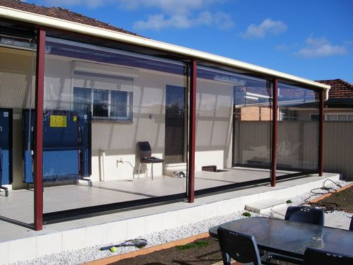 Create My Own Pvc Patio Outdoor Blinds Patio Blinds Shade House