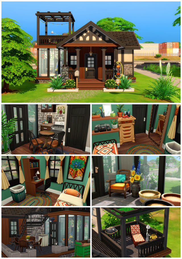 My entry for the Tiny Living Contest! Origin ID: leafbats : thesims #tinylivingideas