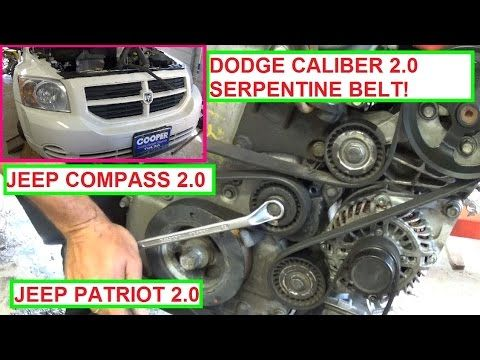 dodge caliber serpentine belt replacement and diagram 2 0 jeep rh pinterest com