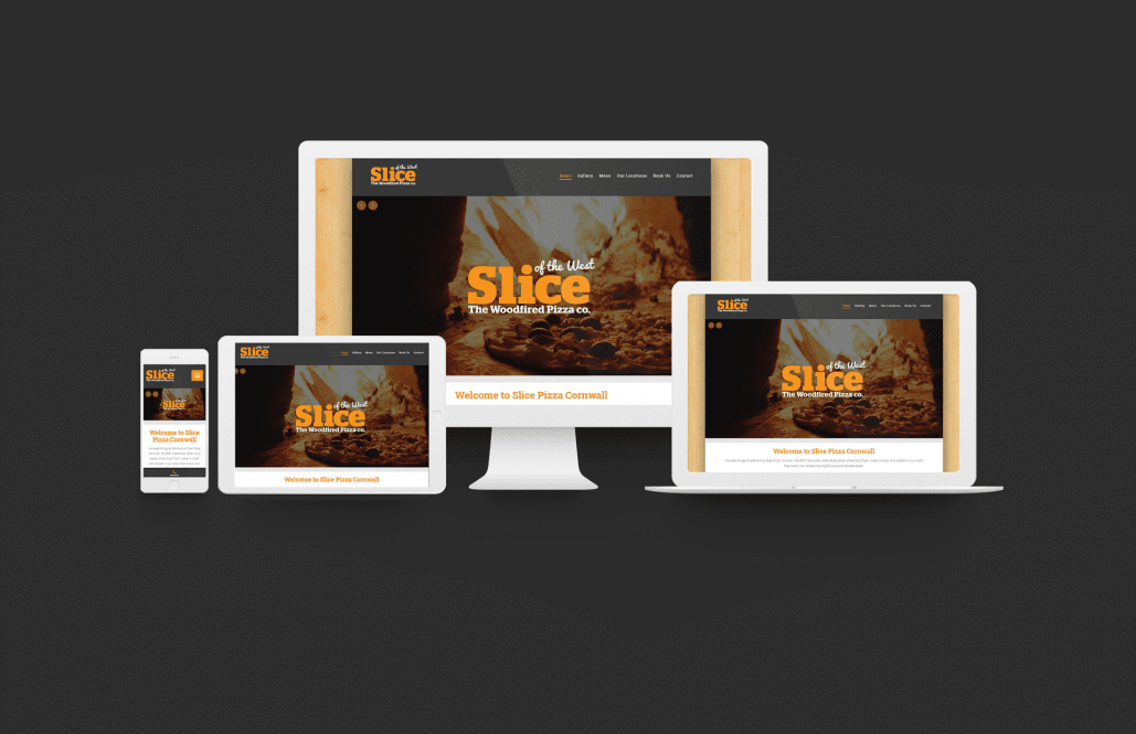 Slice Pizza Cornwall Website Design Freelancer Website Cornwall