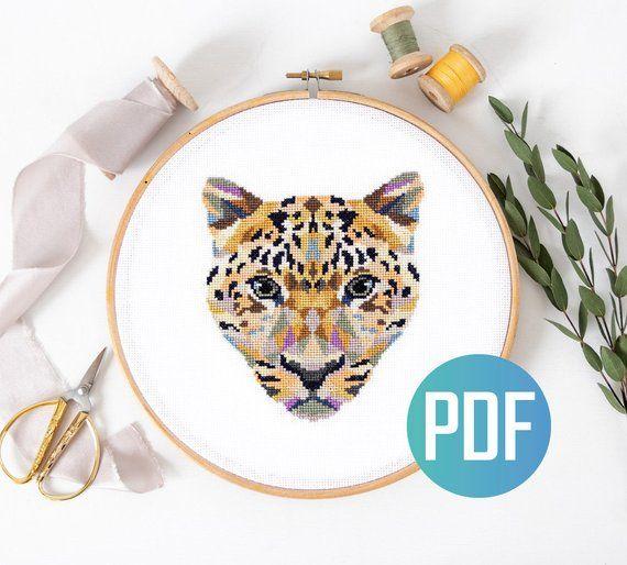 Low Poly Art Cross Stitch Kit Geometric Pig