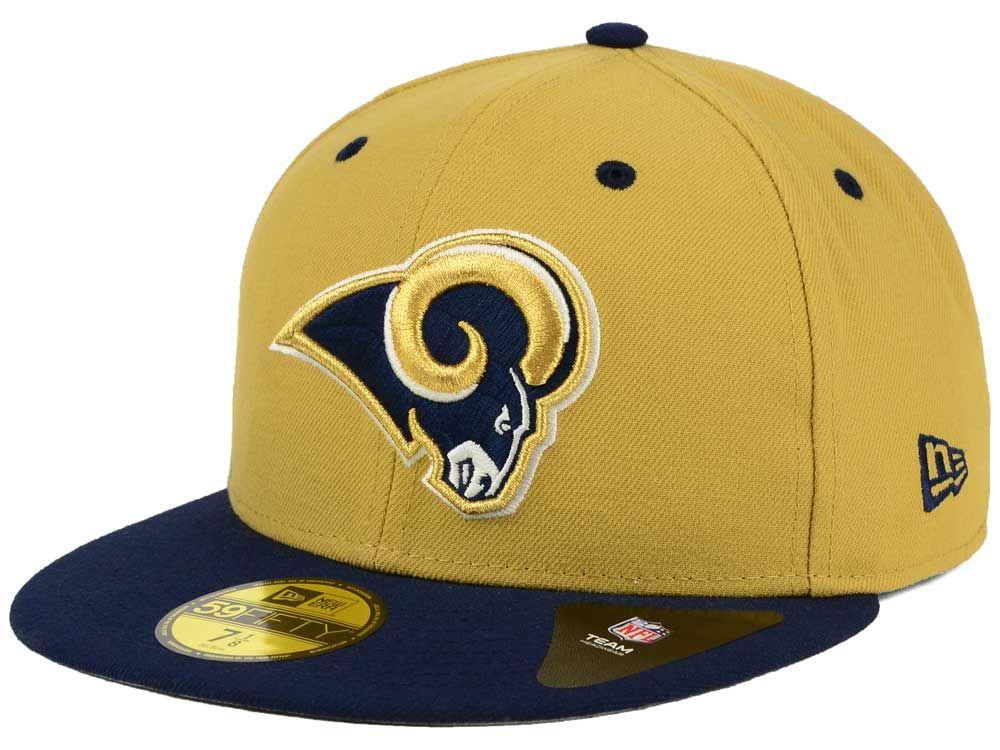 Los Angeles Rams New Era NFL 2 Tone 59FIFTY Cap ( 35)  cd68500e41a4