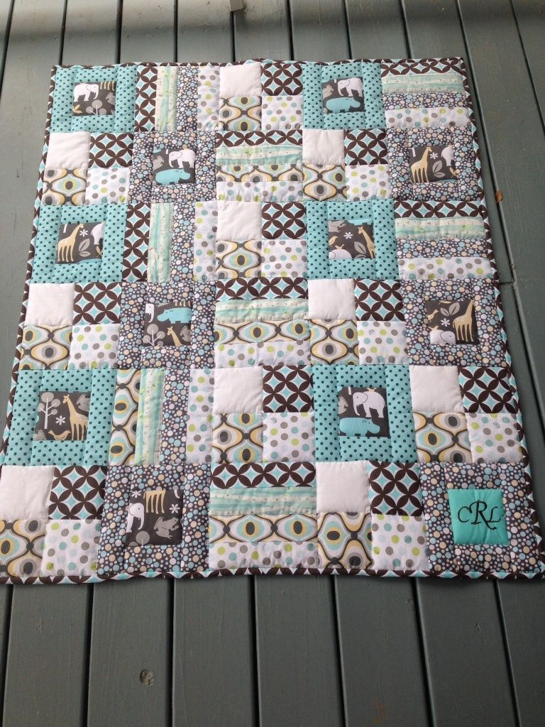 Campbell S Quilt Love The Way The Printed Fabric Is