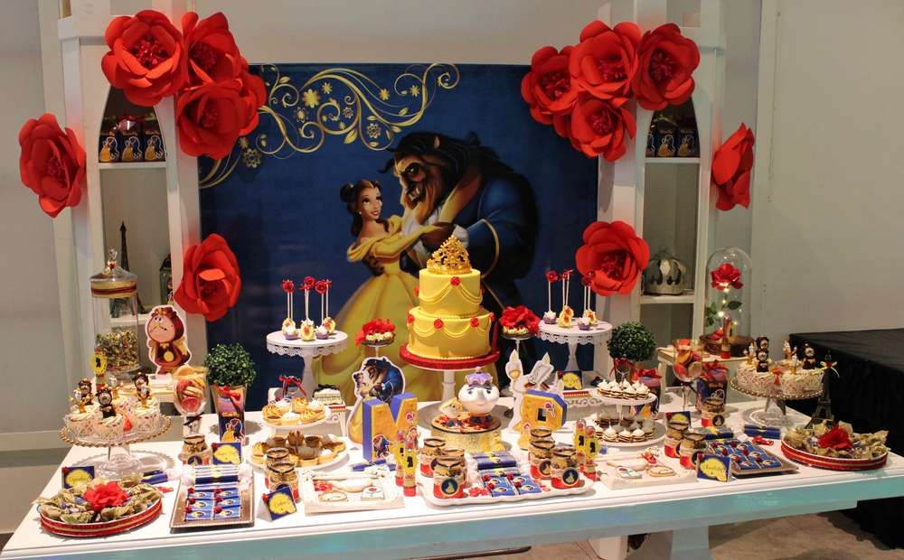 Belle Beauty And The Beast Birthday Party Ideas Photo 1 Of 19 Beauty And Beast Birthday Beauty And The Best Beauty And The Beast Party