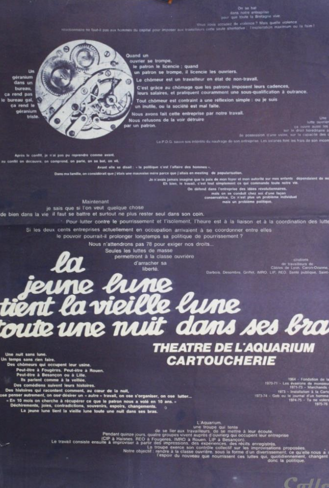 Theatre De L Aquarium La Jeune Lune 1977 Tromperie Vieux Papiers Lune