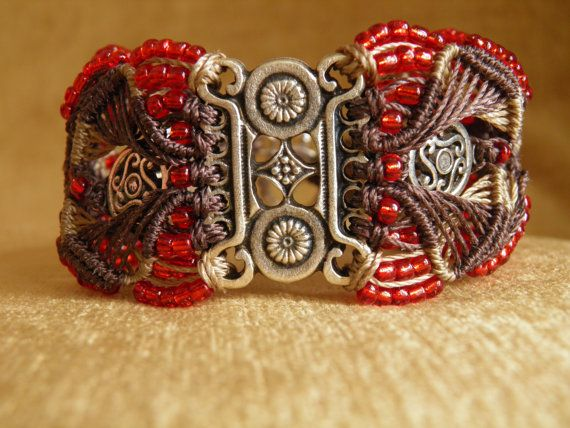 Chocolate Celtic Bracelet by alabjewellery on Etsy, £30.00