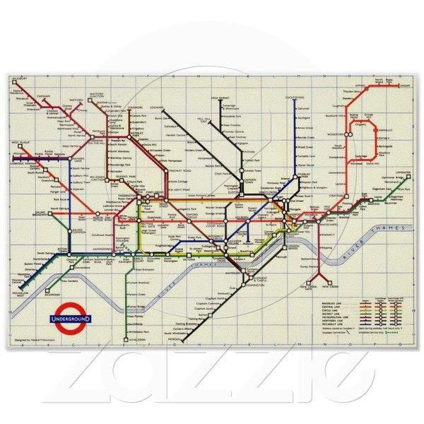 London Tube Map Poster 13 Liked On Polyvore Featuring Home