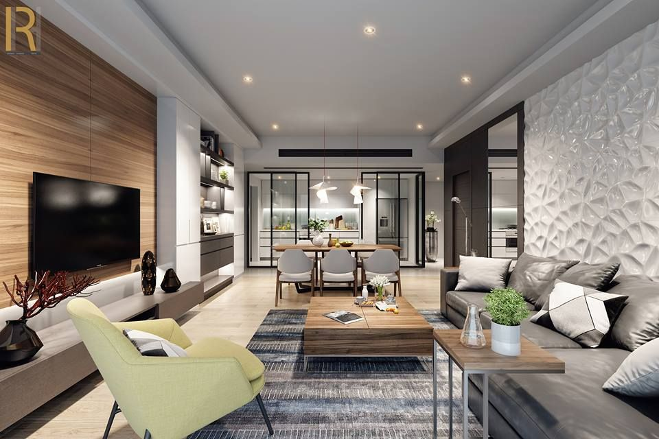 Apartment interior design on Behance Pin by