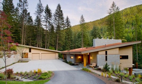 Modern Hillside Homes simple profile, set into a hillside | house | pinterest