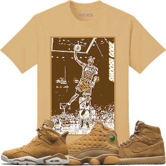 826daa52841a Jordan 6 Wheat Golden Harvest 13s Sneaker Tees Shirt - SGMJ ...