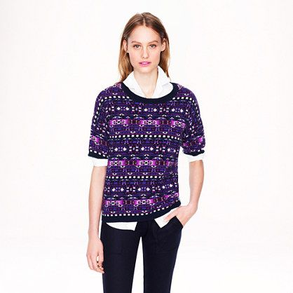 J.Crew - Collection cashmere Fair Isle back-zip sweater | Clothes ...