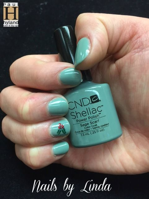 """cnd shellac """"sage scarf"""" with holiday"""