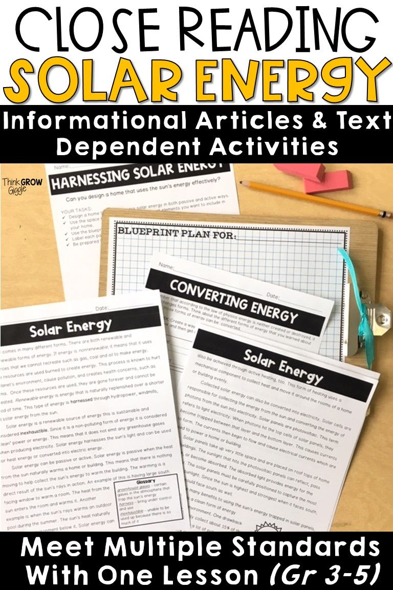 Teachers Are You Looking For Ngss Aligned Activities To Help Your Students Understand Diffe Solar Energy Critical Thinking Activities Close Reading Strategies