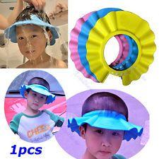 New Soft Baby Kids Children Shampoo Bath Bathing Shower Cap Hat Wash Hair Shield
