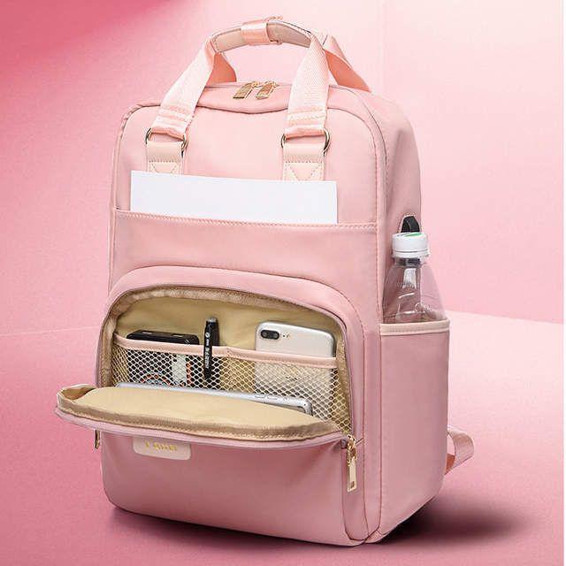 Photo of US $15.83 30% OFF|Litthing su geçirmez pembe Laptop sırt çantası kadın moda kız sırt çantası 13 15.6 inç sırt çantası kadın erkek Oxford kumaş siyah pembe|Sırt Çantaları|   – AliExpress