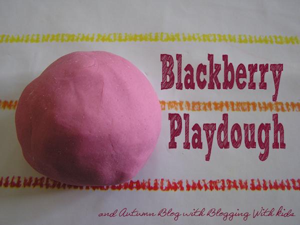 Making Blackberry Playdough and Autumn Blog Hop