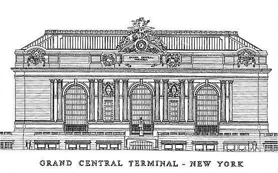 Grand central terminal exterior blueprint sketch pinterest grand central terminal exterior blueprint malvernweather Gallery