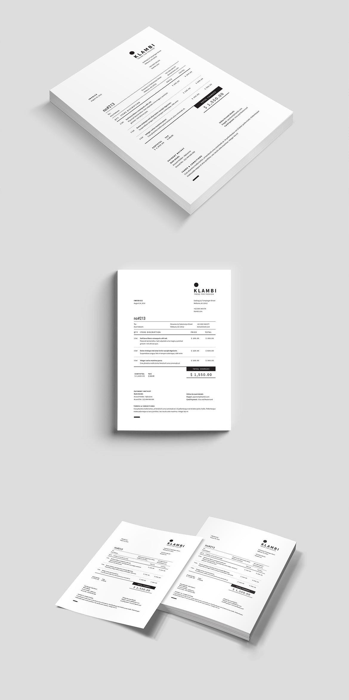Invoice Adobe Indesign Estimate Clean Invoice Proposal