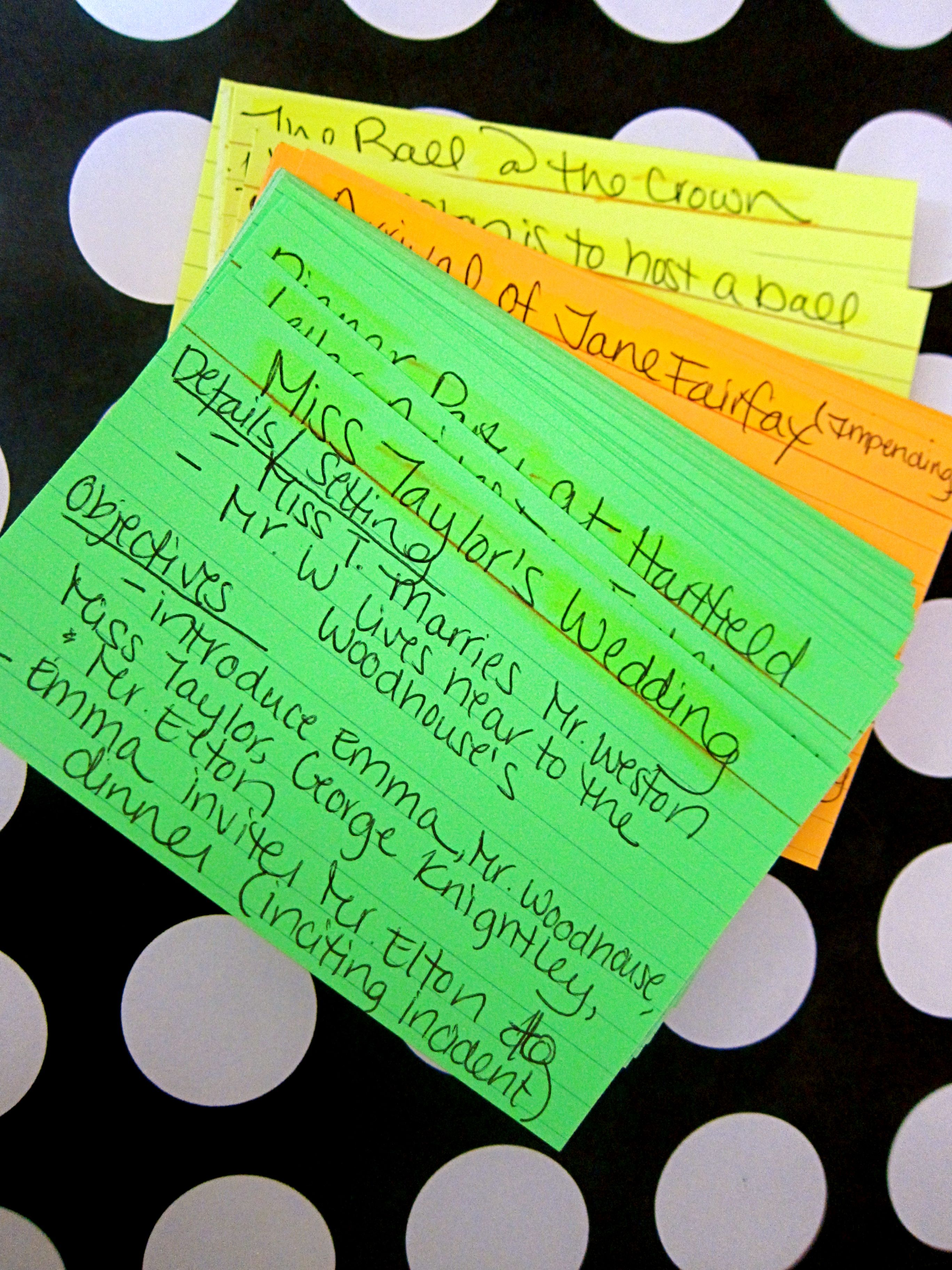Nanowrimo Prep Plotting Your Wip With Index Cards
