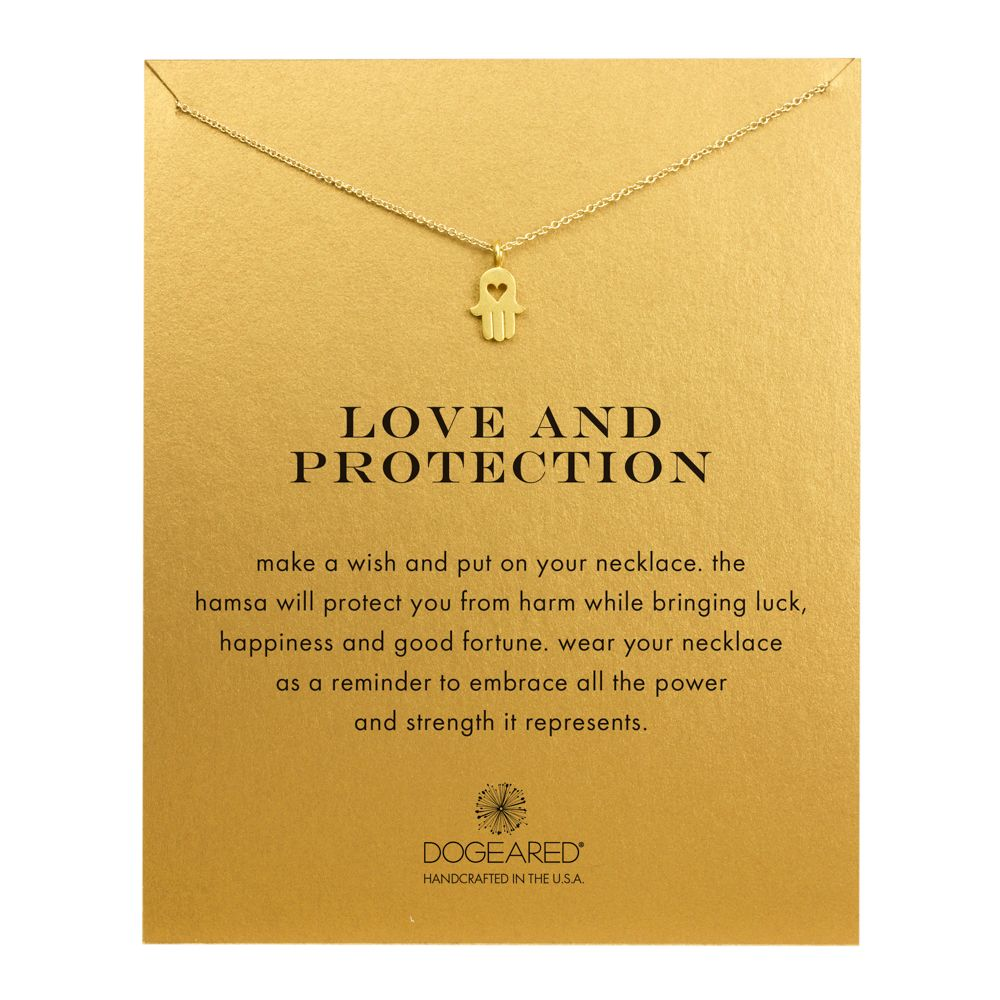 Love and protection necklace gold dipped gold love and protection necklace gold dipped mozeypictures Image collections
