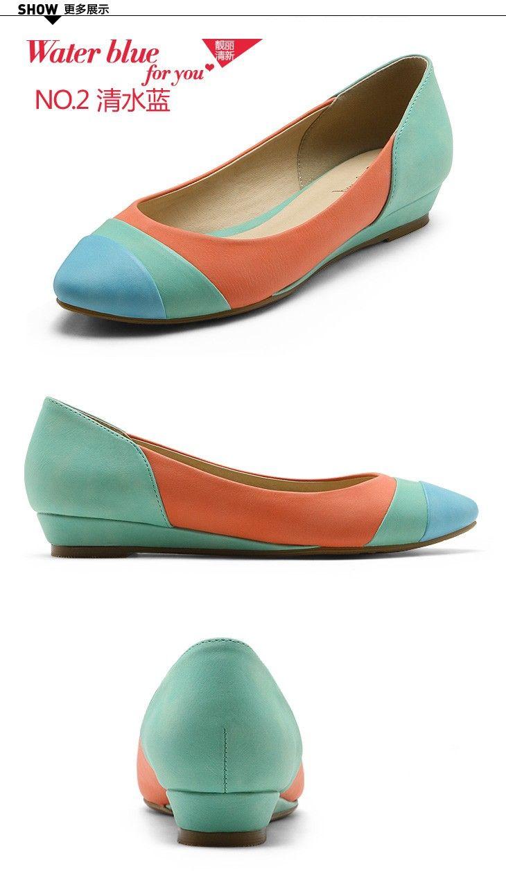 de9476fed5a2fe nggak terlalau dewasakan ya  Corall-Green-Blue women flat shoes ...