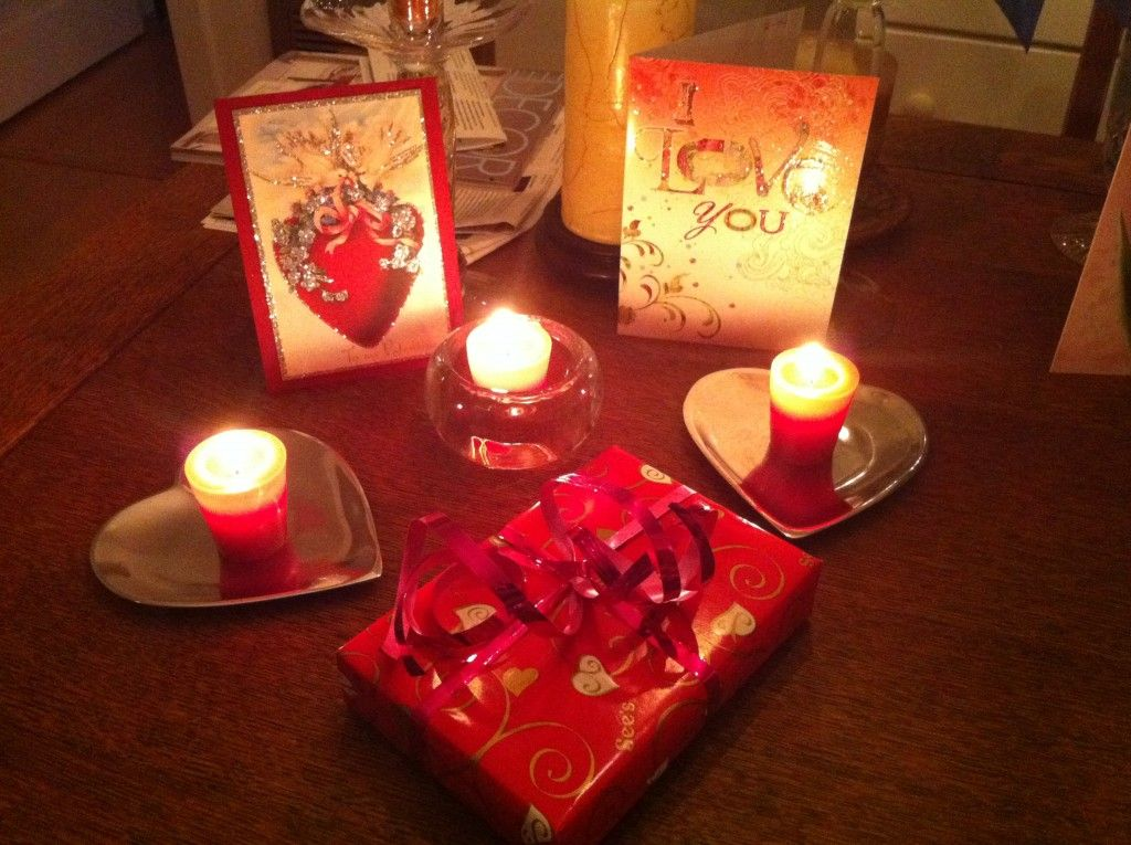 Chocolate Valentines Gifts With Red Candle For The Most Amazing