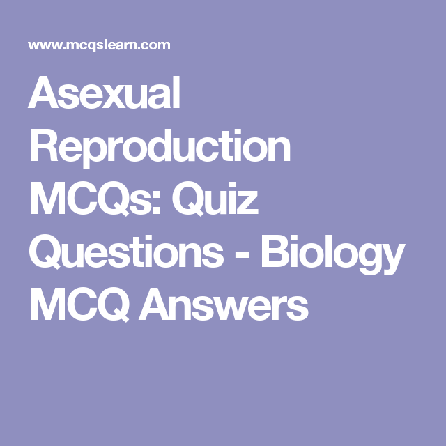 Type of asexual quiz