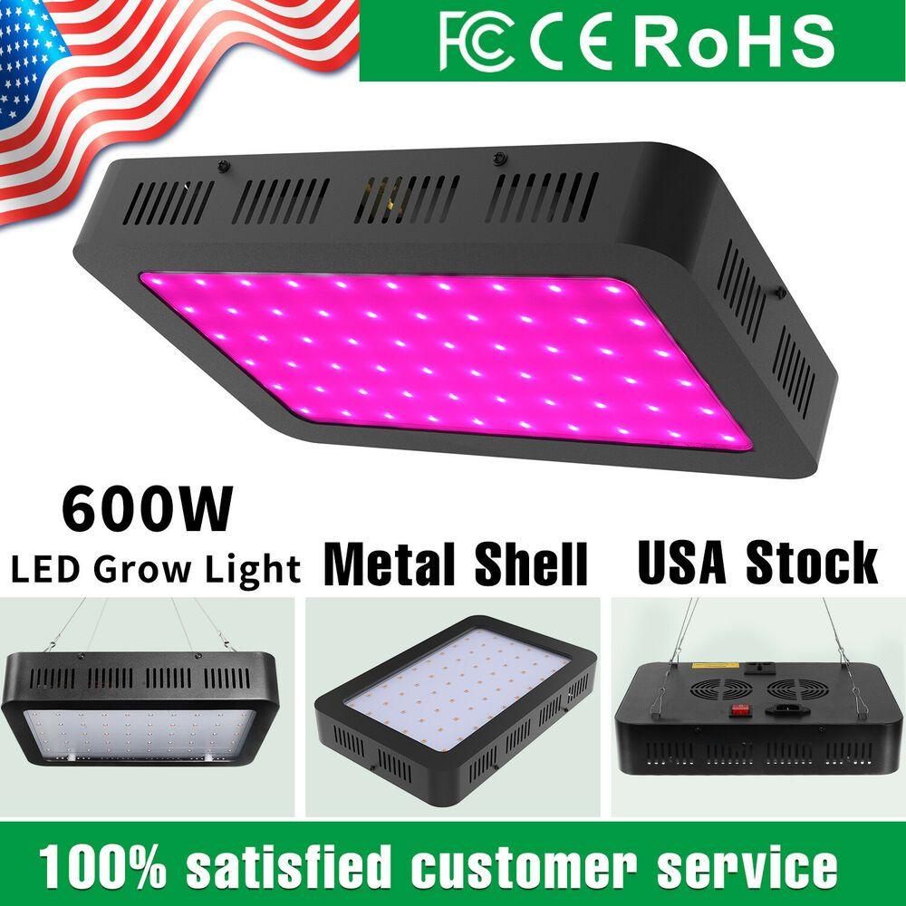 600 Watt Led Grow Lights Lamp Panel Full Spectrum For Indoor Plants Vegetable Unbranded Modern Led Grow Lights Led Grow Grow Lights