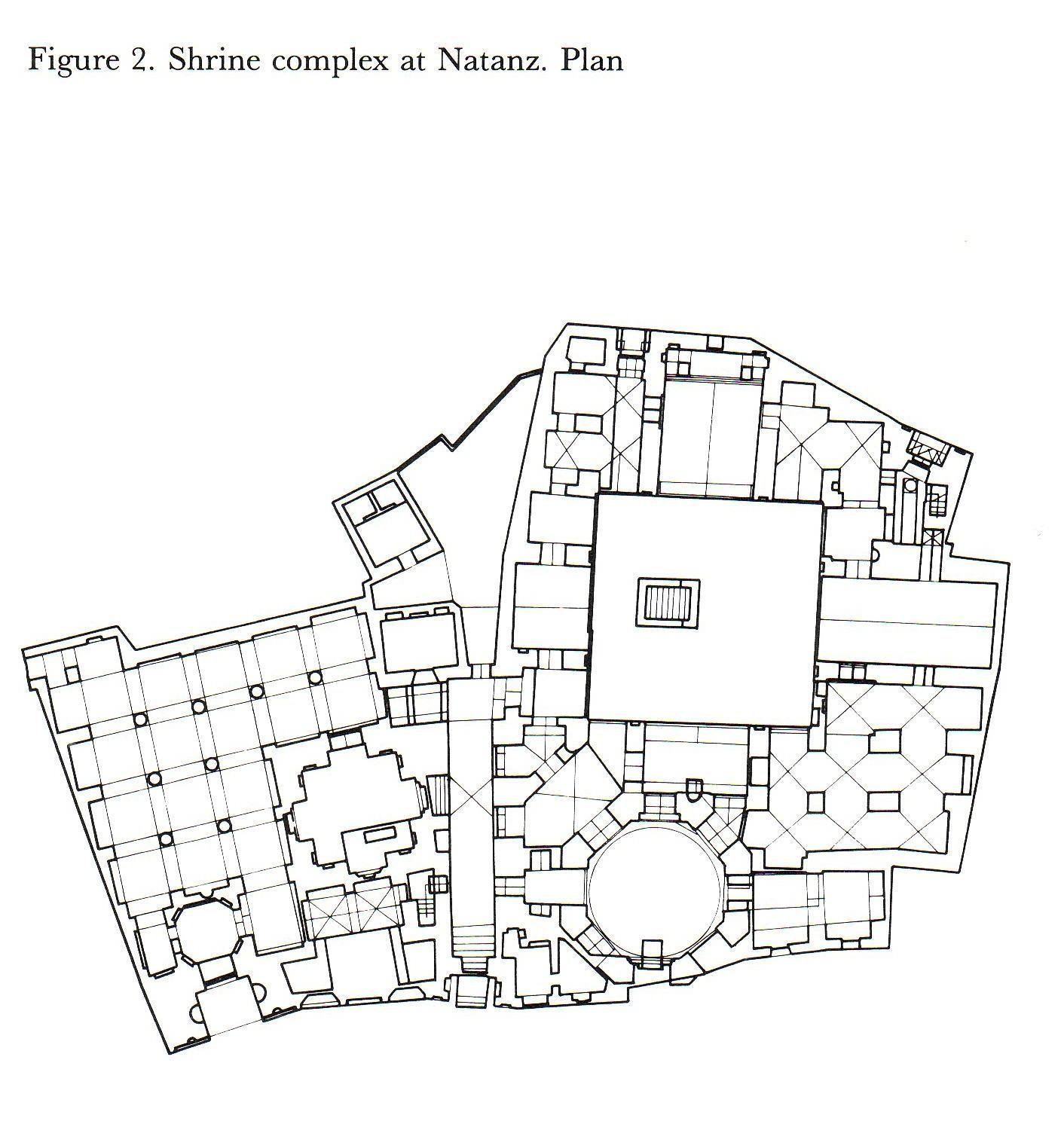 Natanz plan of the shirine of abd al samad 1300 12 iran for Plan tlemcen