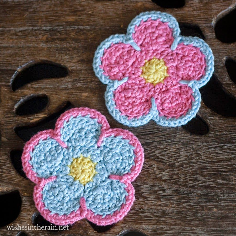 Free Pattern: Sunshine Flower Coasters | Coasters, Crochet and ...