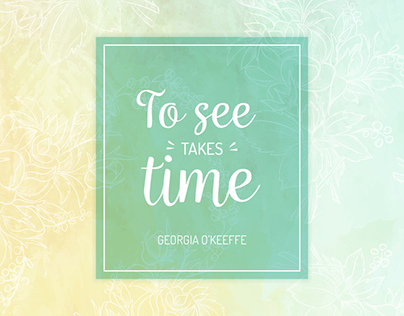 "Check out new work on my @Behance portfolio: ""To see takes time"" http://be.net/gallery/47960885/To-see-takes-time"