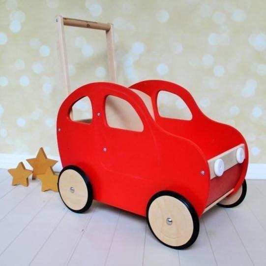 Handmade Toddler S Push Car Walker Red Wooden Toys Handmade