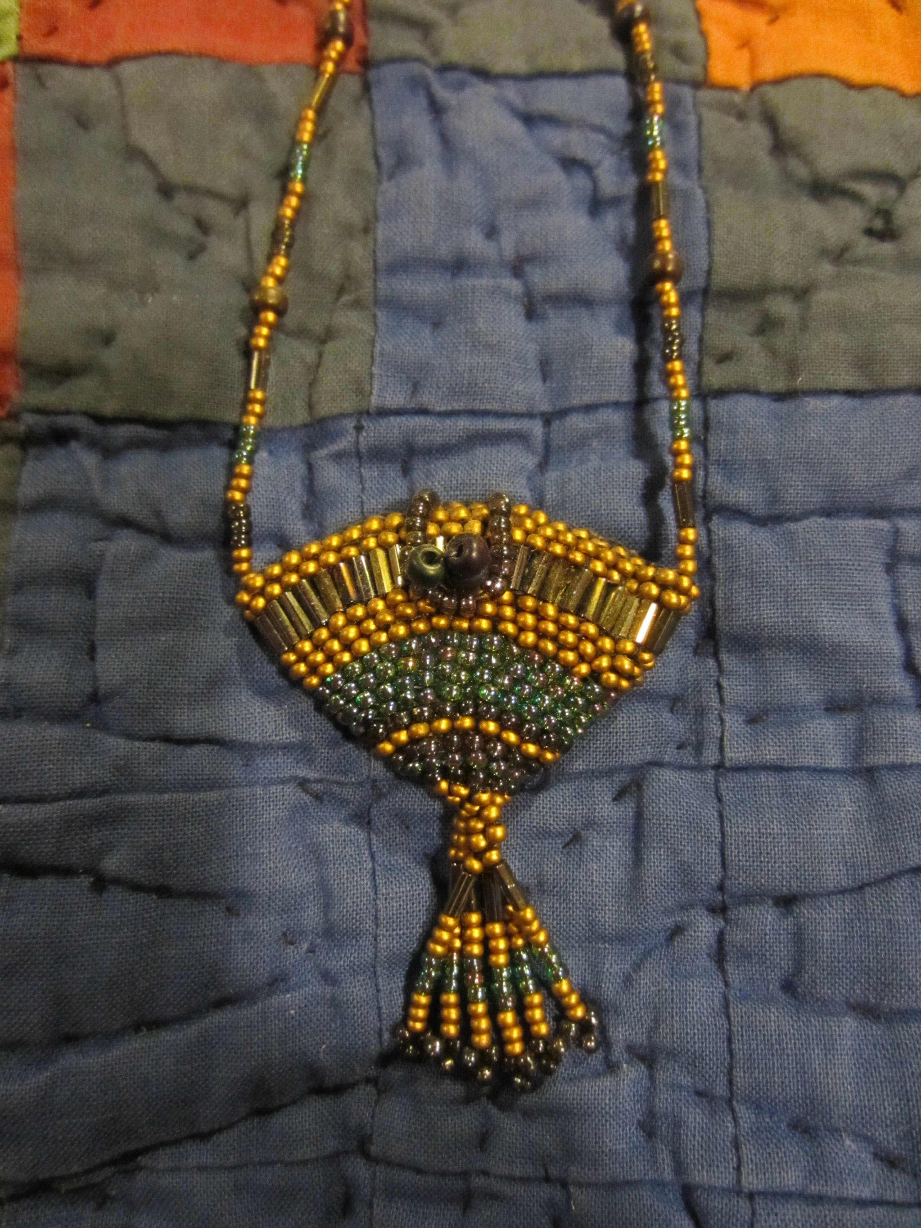 Beaded Necklace Made For Mary Fox By Jan Brattain, Birkenfeld, OR  foxontherunarts.blogspot.com