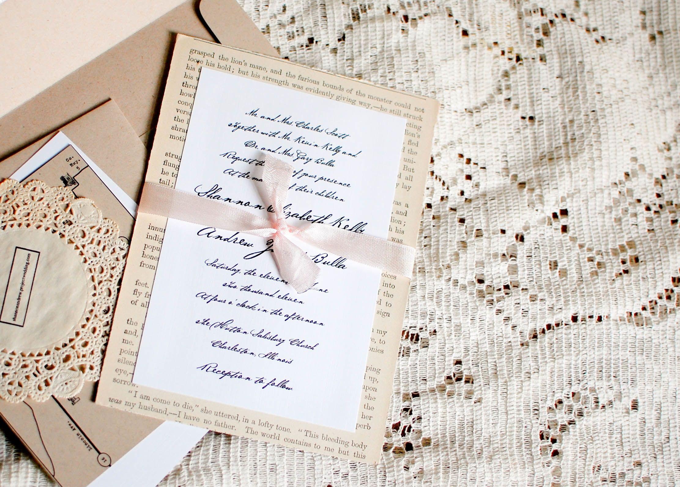 cheap wedding invitation kits | Low-Cost Wedding Ideas | Pinterest ...