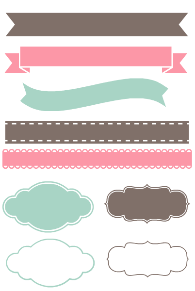 Banner Ribbon Png : banner, ribbon, Things, Really, About, Picmonkey.com, Label, Shapes,, Design,, Planner, Stickers