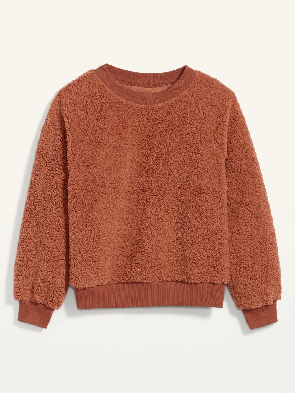 Loose Cozy Sherpa Sweatshirt For Women Old Navy Sherpa Sweatshirt Womens Sherpa Sweatshirt Fleece [ 1333 x 1000 Pixel ]