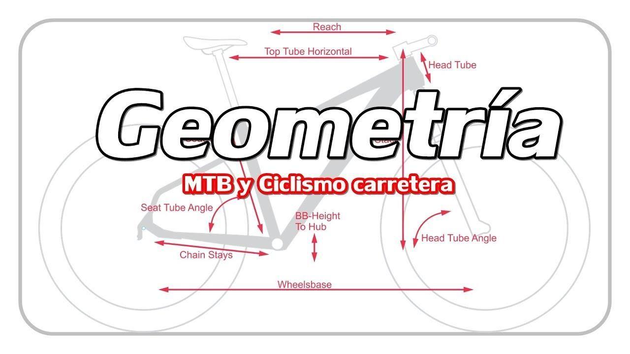 GEOMETRÍA y MEDIDAS de nuestra BICICLETA || MTB y carretera ...