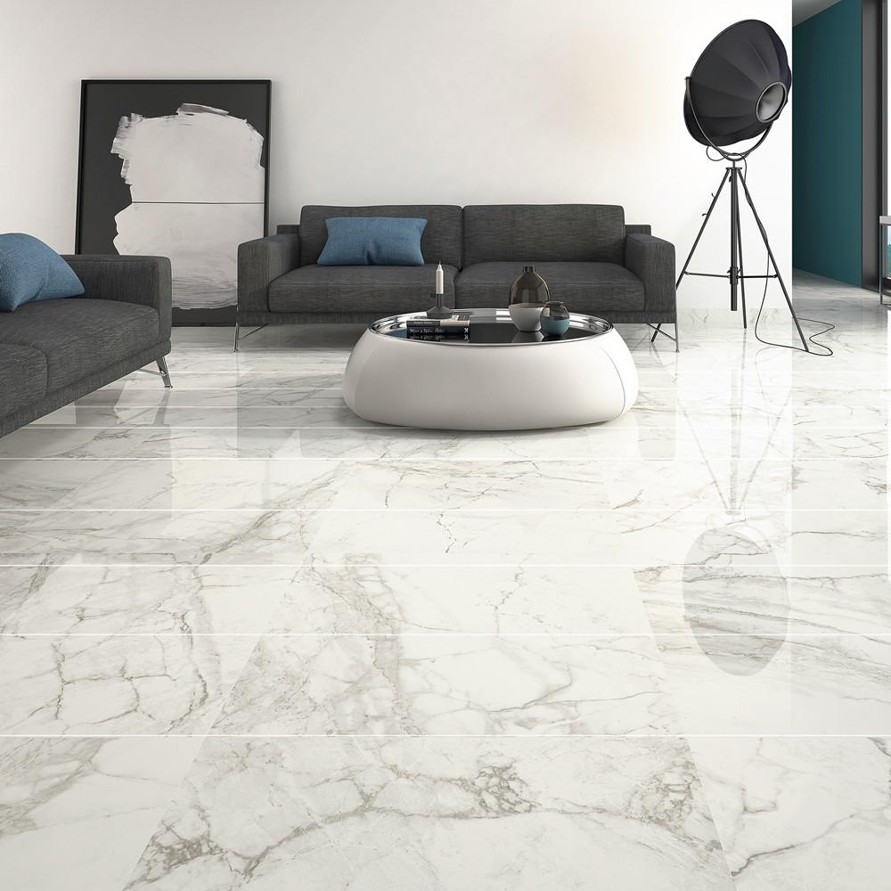 Kashmir Luni Blanco 15x30 Porcelain Tile #whitemarbleflooring