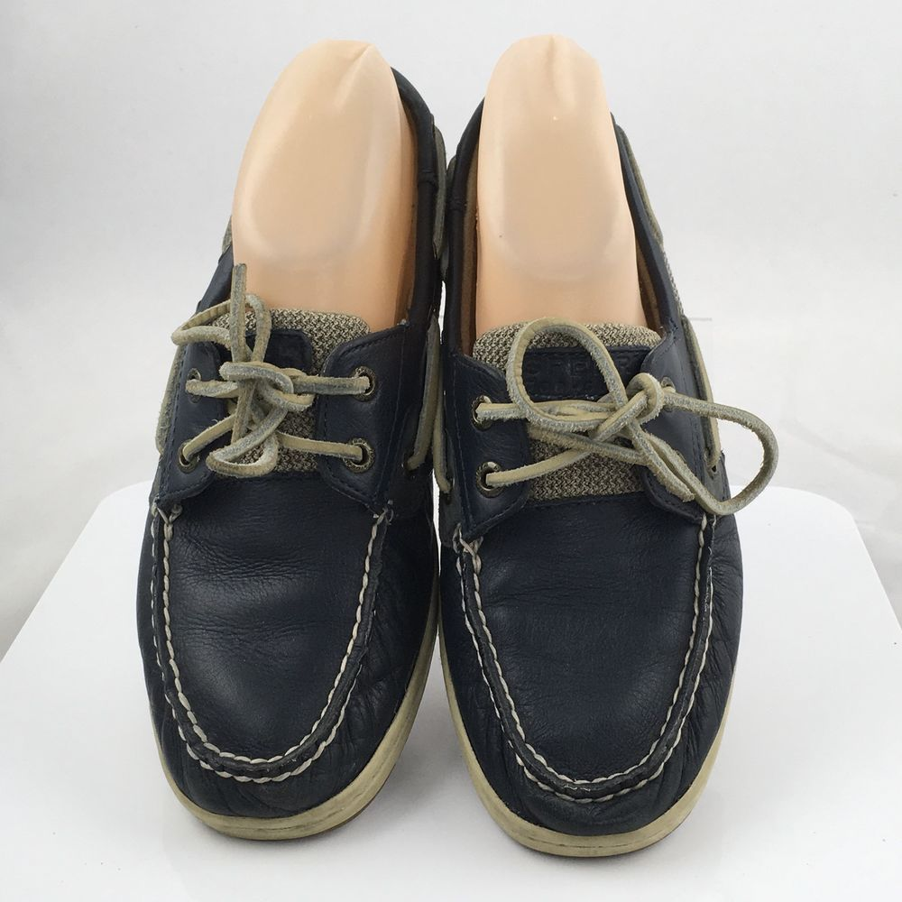 0be01ff0597 Sperry Top-Sider Womens Bluefish Boat Shoe Size 7.5 M Navy Blue   SperryTopSider  BoatShoes  Casual