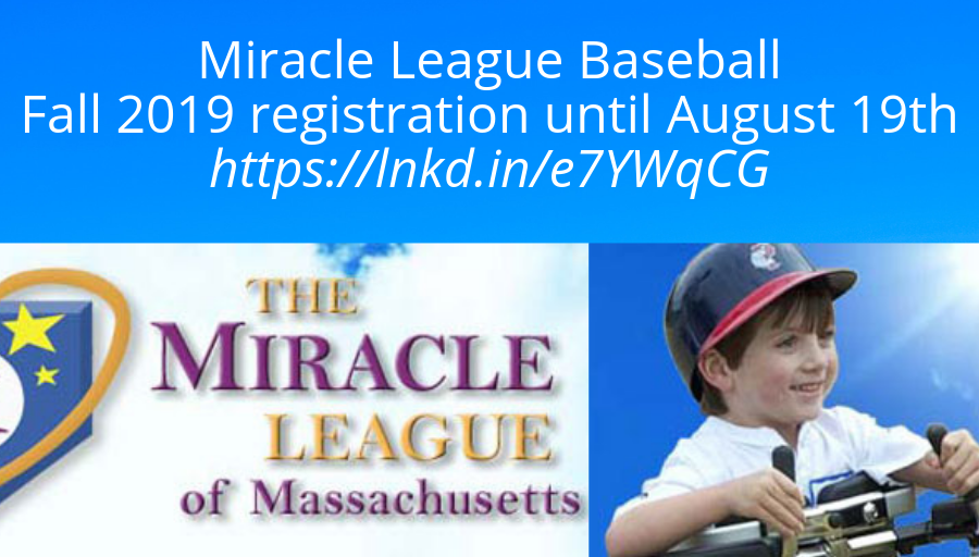 Miracle League Baseball In Eastern Massachusetts For All Special Needs Fall Signups By 8 10 2019 Autism Society Special Needs Sensory Friendly