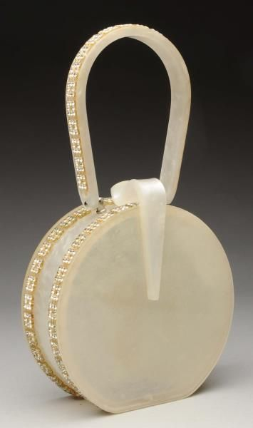 Lot # : 979 - Wilardy Lucite Purse with Rhinestones.