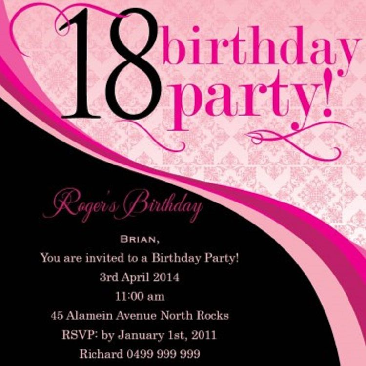unique 18th birthday invitation