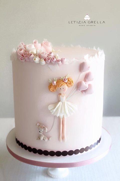 Rosa Kuchen, Baby Party Kuchen, Puppentorten, Schöne Kuchen,  Geburtstagskuchen, Kuchen Ideen, Prinzessinnen Party, Partys, Essen
