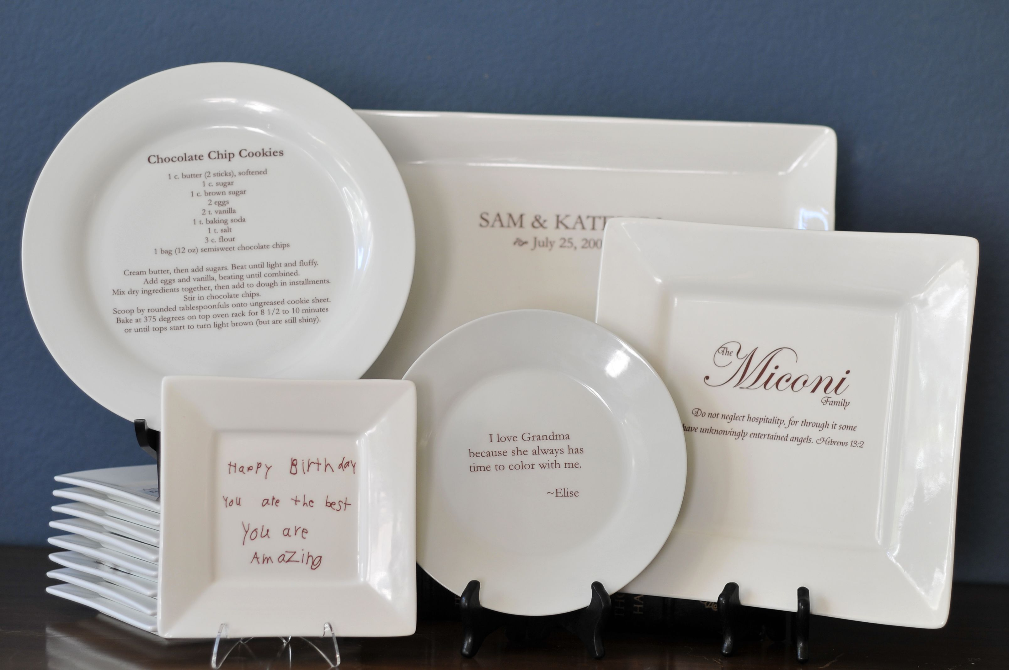 Sweet gift.  Print a special recipe on a serving plate!