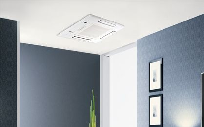 Ceiling Recessed Ductless Heating And Cooling Heat Pump System